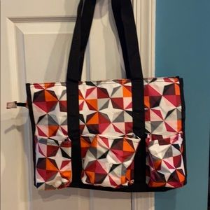 Thirty-One Zip-Top utility tote Origami pop NEW